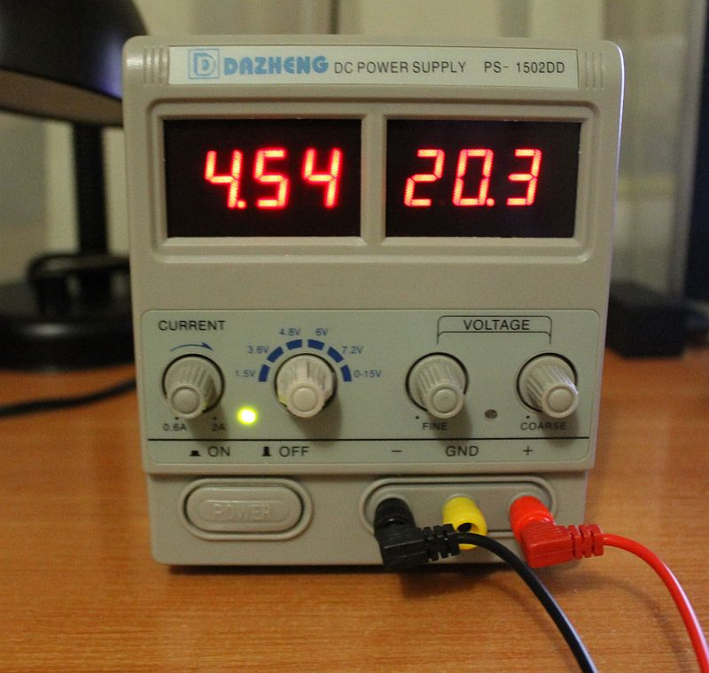 Параметры источника PS-1502DD после доработки